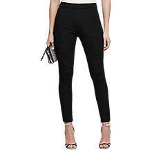 Buy Reiss Tessa Seamed Skinny Trousers, Black Online at johnlewis.com