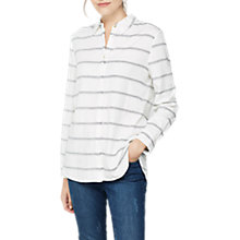Buy Mint Velvet Stripe Shirt, White/Ink Online at johnlewis.com