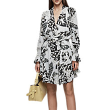 Buy Reiss Serenella Gather Detail Printed Dress, Multi Online at johnlewis.com