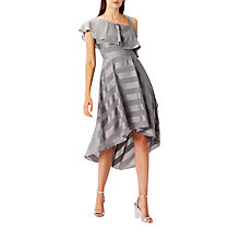Buy Coast Elspbeth Soft Midi Dress, Silver Online at johnlewis.com
