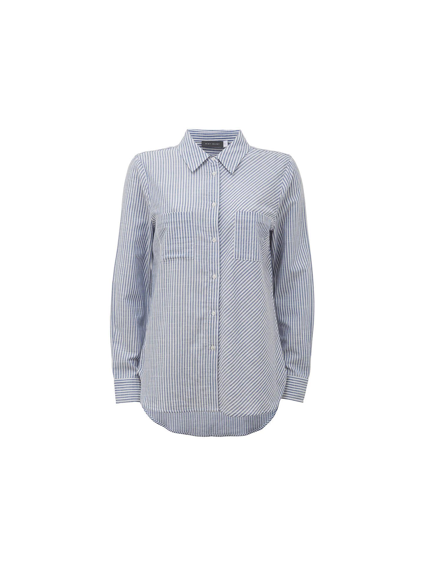 057a2f453e Buy Mint Velvet Mixed Stripe Shirt, Multi, 6 Online at johnlewis.com ...