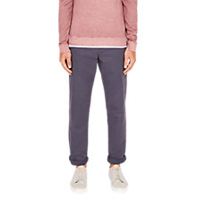 Buy Ted Baker Clarpin Classic Fit Printed Chinos, Mid Blue Online at johnlewis.com