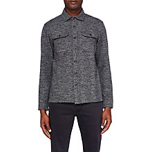 Buy Ted Baker Chelt Herringbone Shirt, Charcoal Online at johnlewis.com