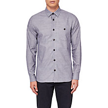 Buy Ted Baker Elyzay Long Sleeve Shirt, Grey Online at johnlewis.com