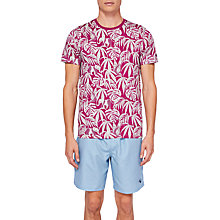 Buy Ted Baker Corbet Leaf Print Print T-Shirt Online at johnlewis.com