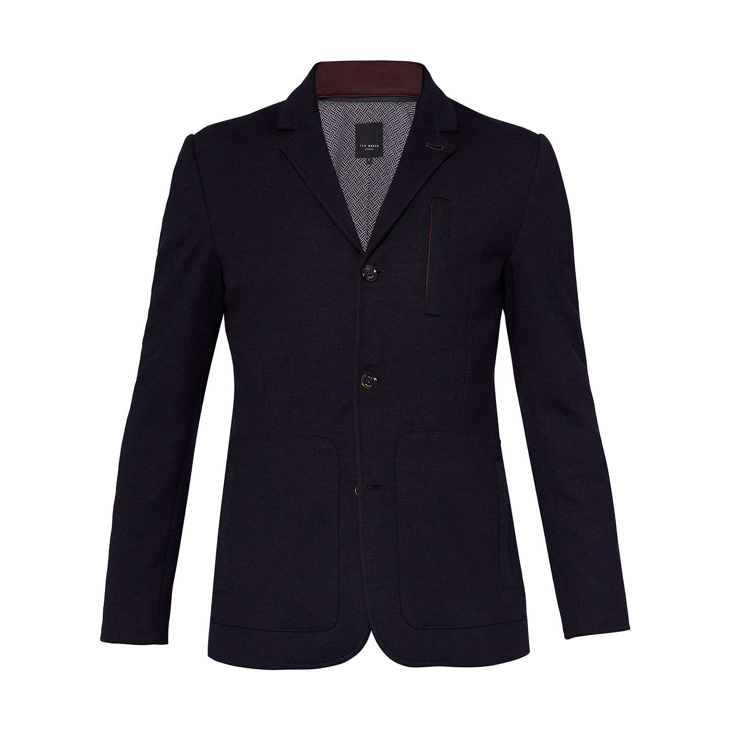 BuyTed Baker Roy Jersey Jacket, Navy, 2 Online at johnlewis.com