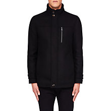 Buy Ted Baker Crew Funnel Neck Jacket, Black Online at johnlewis.com