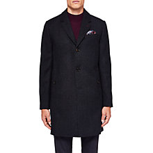 Buy Ted Baker Nevada Herringbone Overcoat, Navy Online at johnlewis.com