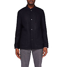 Buy Ted Baker Nashvil Baseball Collar Coat, Navy Online at johnlewis.com