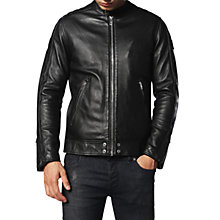 Buy Diesel L-Quad Leather Jacket, Black Online at johnlewis.com