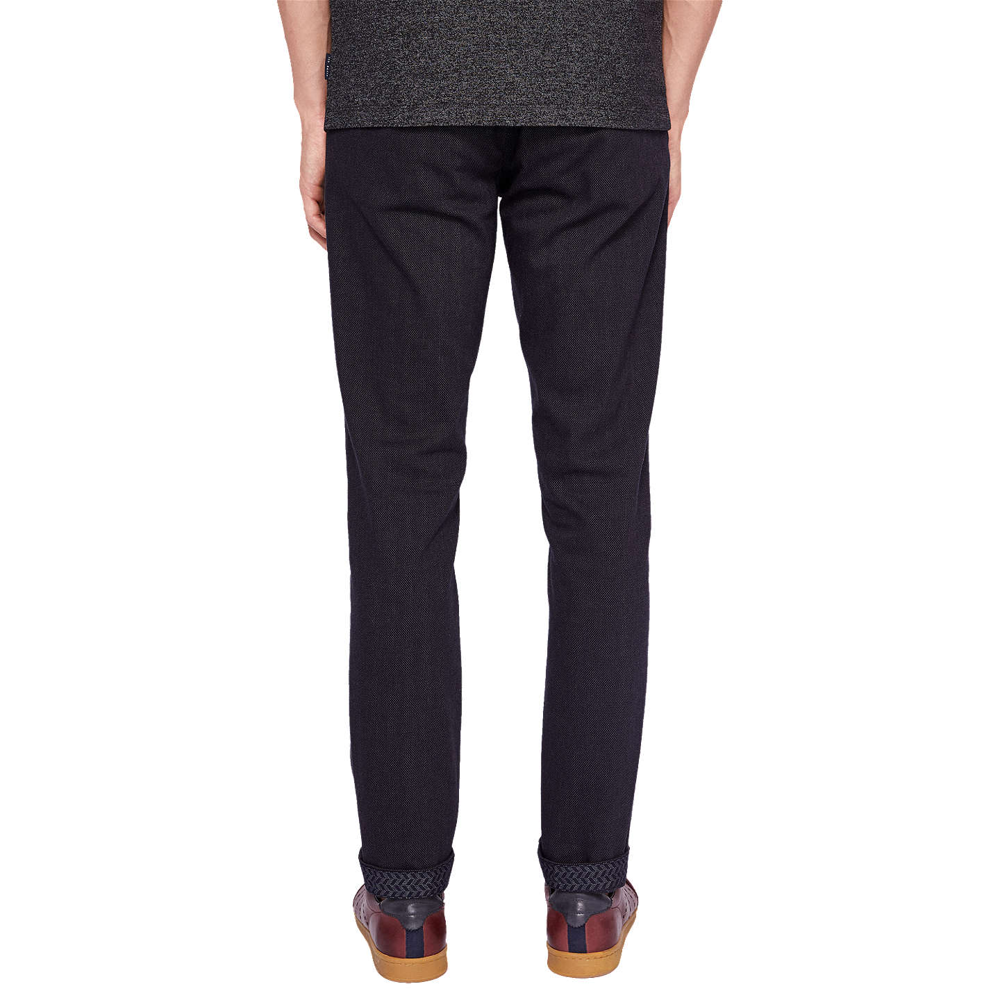 BuyTed Baker Maxchi Slim Fit Textured Trousers, Charcoal, 30S Online at johnlewis.com