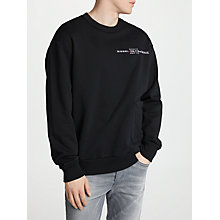 Buy Diesel S-Ellis Cotton Sweater, Black Online at johnlewis.com