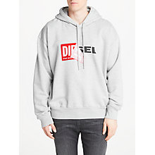 Buy Diesel S-Alby Hoodie, Grey Online at johnlewis.com