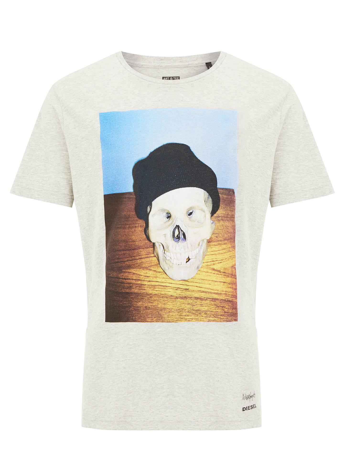 a7d96f94 Buy Diesel T-Joe Skull T-Shirt, Grey, S Online at johnlewis