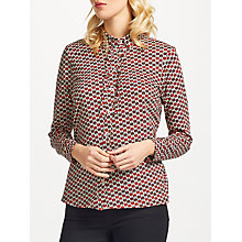 Buy People Tree Marlowe Apple Shirt, Red Online at johnlewis.com