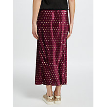 Buy Y.A.S Galay Pleated Midi Skirt, Rhododendron/Gold Online at johnlewis.com