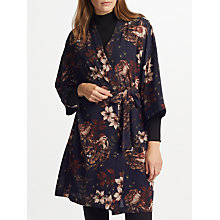 Buy Y.A.S Yasilvaly Floral Print Kimono, Night Sky Online at johnlewis.com