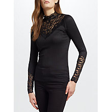 Buy Y.A.S Blace Lace Top, Black Online at johnlewis.com