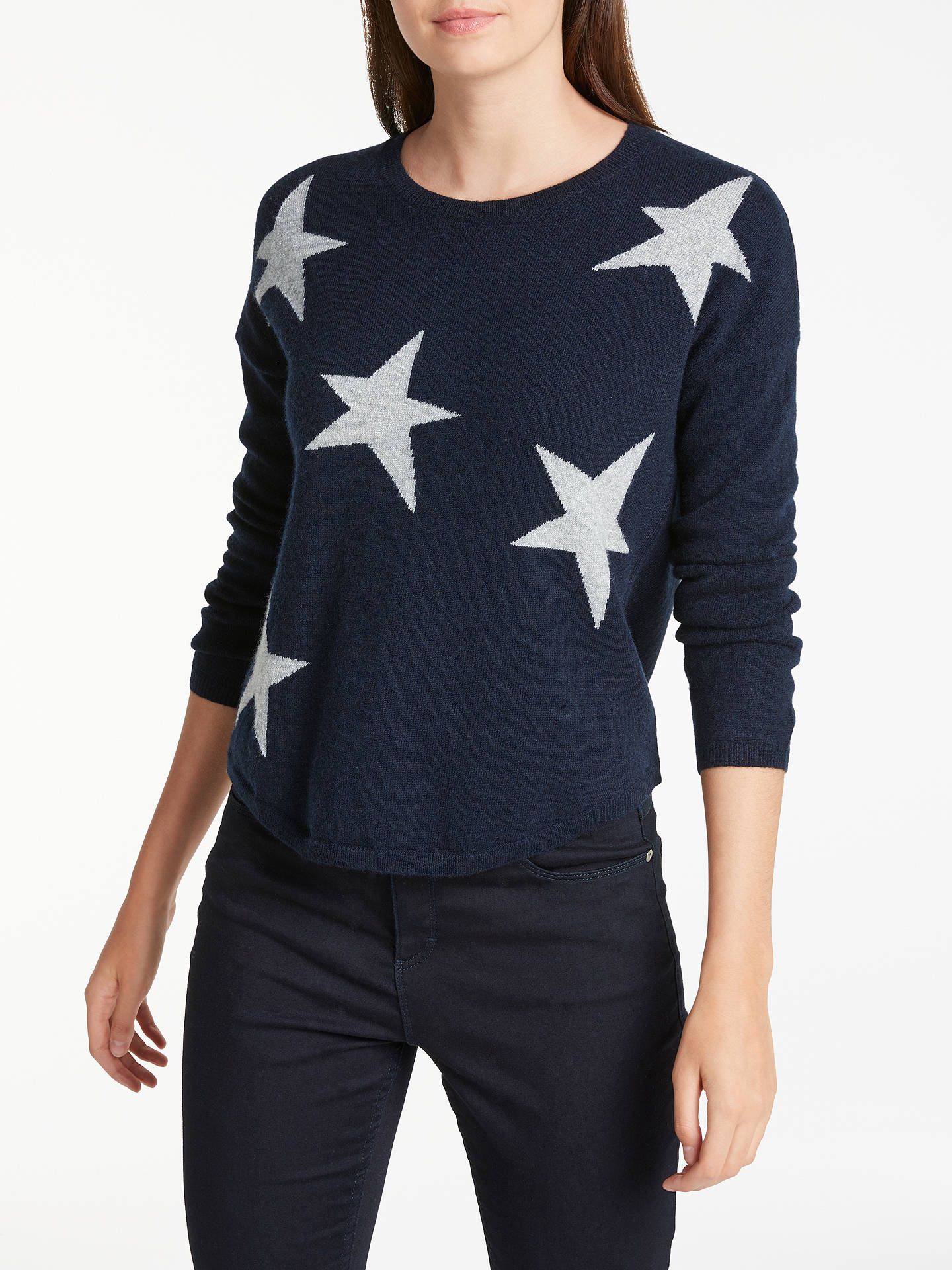 ba86666e59 BuyWyse London Maddy Large Star Slouchy Cashmere Jumper