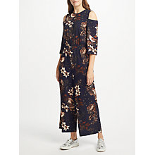 Buy Y.A.S Yasilvaly Floral Print Jumpsuit, Night Sky Online at johnlewis.com