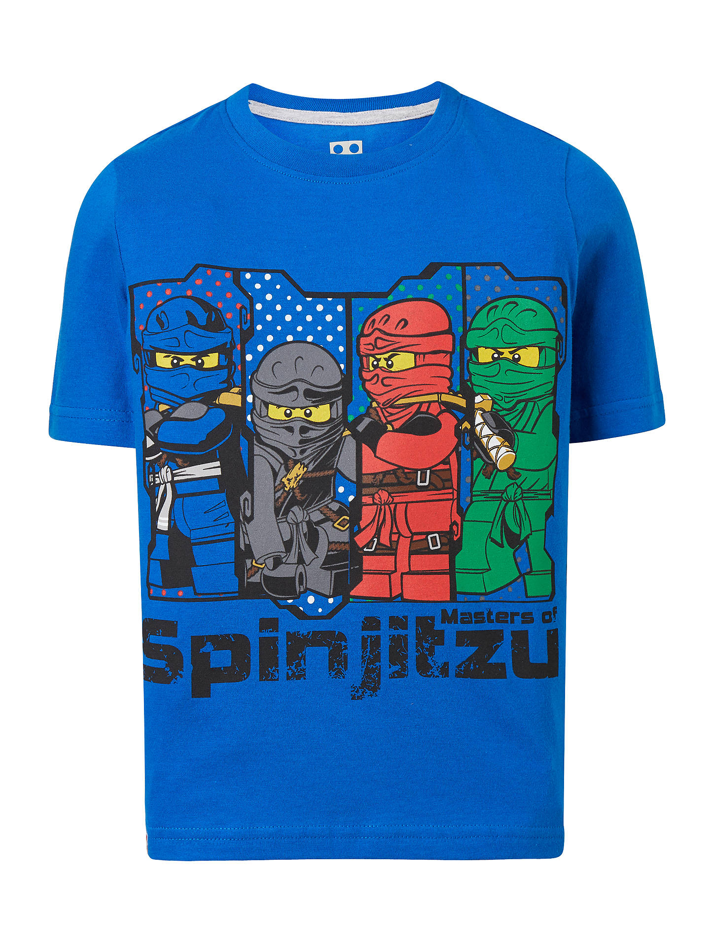 0113a0c1 Buy LEGO Children's Ninjago T-Shirt, Blue, 5-6 years Online at ...