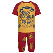 Buy Harry Potter Children's Short Pyjamas, Yellow/Red Online at johnlewis.com