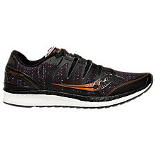 Buy Saucony Liberty ISO Men's Running Shoes, Black/Denim/Copper Online at johnlewis.com