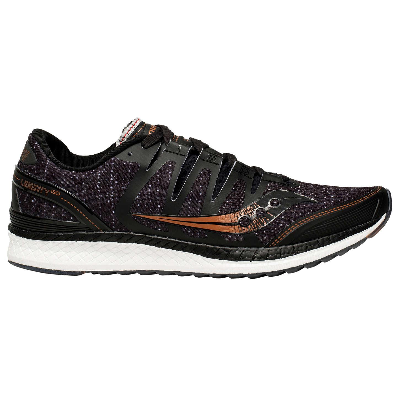 Saucony LIBERTY ISO Stabilty running shoes black/denim/copper nJgBbq2i