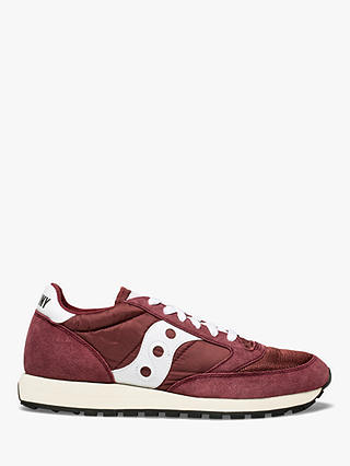 Buy Saucony Jazz Original Vintage Men's Trainers, Burgundy/White, 8 Online at johnlewis.com
