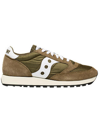 Buy Saucony Jazz Original Vintage Men's Trainers, Olive/White, 8 Online at johnlewis.com