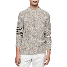 Buy Reiss Longloft Knit Jumper, Oatmeal Online at johnlewis.com