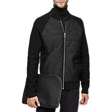 Buy Reiss Ribchester Quilted Bomber Jacket, Black Online at johnlewis.com