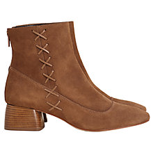 Buy Finery Bedell Block Heeled Ankle Boots, Beige Online at johnlewis.com