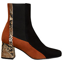 Buy Finery Clarissa Block Heeled Ankle Boots, Multi Suede Online at johnlewis.com