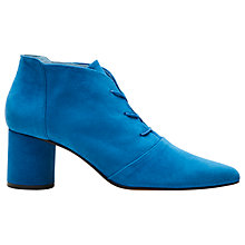 Buy Finery Galway Lace Up Ankle Boots, Cobalt Online at johnlewis.com