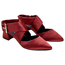 Buy Finery Stella Cross Strap Court Shoes, Blush Satin Online at johnlewis.com