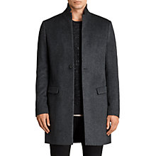 Buy AllSaints Bodell Wool Tailored Coat, Charcoal Grey Online at johnlewis.com