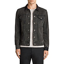 Buy AllSaints Baton Denim Jacket, Black Online at johnlewis.com