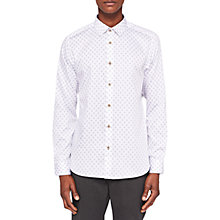 Buy Ted Baker Wunderr Diamond Print Long Sleeve Shirt Online at johnlewis.com