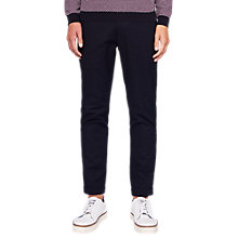 Buy Ted Baker Minter Jacquard Trousers, Navy Online at johnlewis.com