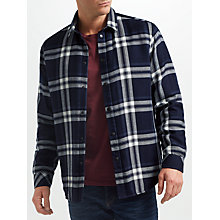 Buy Samsoe & Samsoe Chris Check Shirt, Dark Sapphire Check Online at johnlewis.com