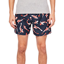 Buy Ted Baker Charter Koi Fish Swim Shorts, Navy Online at johnlewis.com