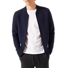 Buy Jigsaw Wool Bomber Jacket, Navy Online at johnlewis.com