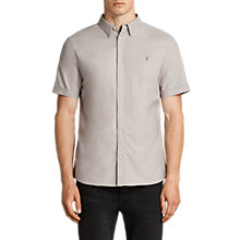 Buy AllSaints Hungtingdon Slim Fit Short Sleeve Shirt, Pebble Online at johnlewis.com