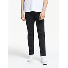 Buy Diesel Thommer Skinny Fit Stretch Jeans, Black 0687J Online at johnlewis.com