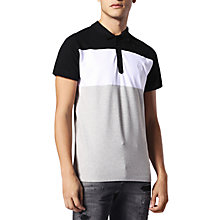 Buy Diesel T-Day Block Polo Shirt, Grey Online at johnlewis.com