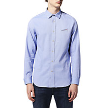 Buy Diesel S-Harras Washed Oxford Shirt, Azure Online at johnlewis.com
