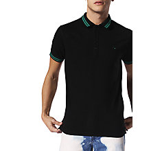 Buy Diesel T-Randy Polo Shirt, Black Online at johnlewis.com