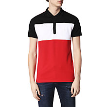 Buy Diesel T-Day Polo Shirt, Tango Red/White/Blue Online at johnlewis.com