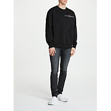 Buy Diesel Sleenker Skinny Jeans, Dark Blue 0842Q Online at johnlewis.com